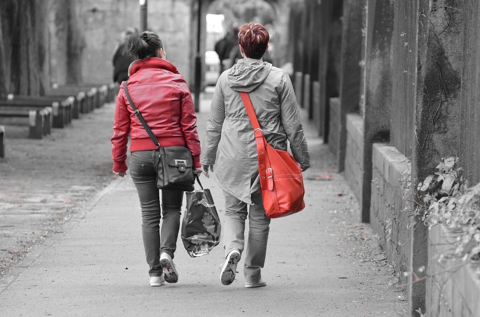Two girls in my neighborhood